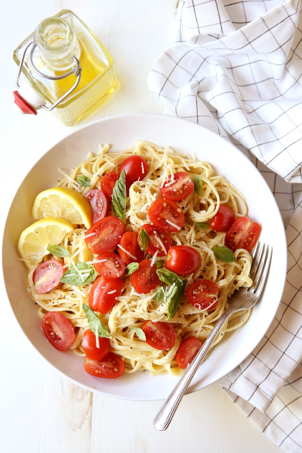 Lemon Pasta with Tomatoes and Basil  Completely Delicious