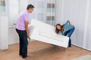 Couple injured moving sofa