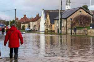 Flooded high street