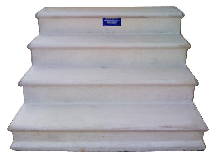 wooden concrete fiberglass steps for