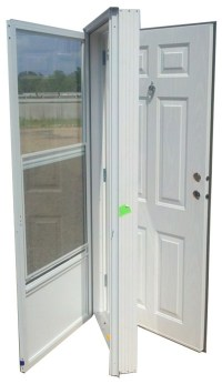 32x72 Steel Solid Door with Peephole RH for Mobile Home ...