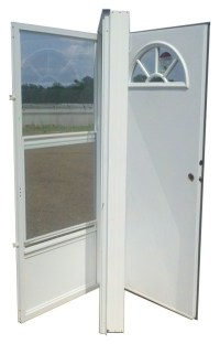 36x76 Aluminum Door Fan Window LH for Mobile Home ...