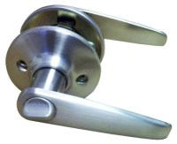 Satin Nickel Lever Privacy Door Knob for Mobile Home ...