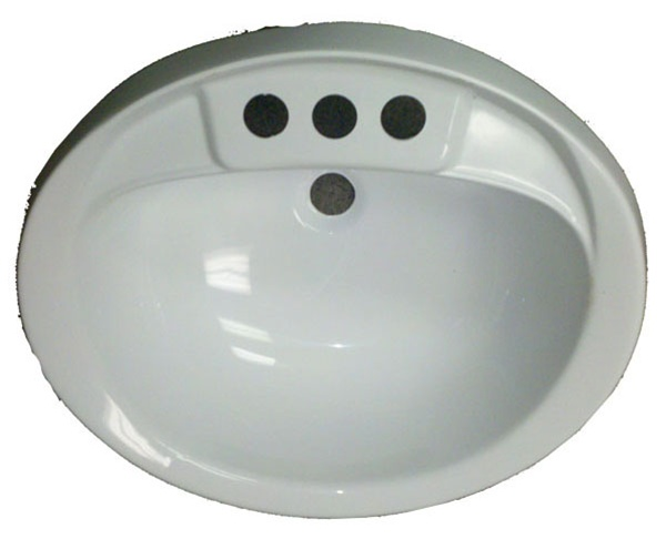 17 X 20 Oval White Plastic Sink For Mobile Home