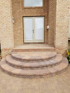 Dearborn Custom Half Circle Steps and Front Porch