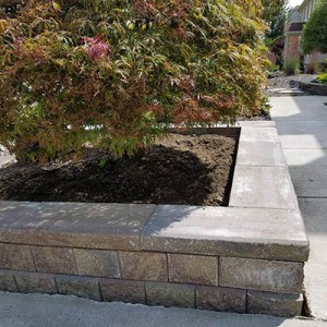 brick paver planter