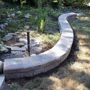 brick paver retaining wall