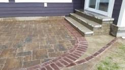 portage lake patio with steps