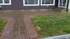 portage lake walkway with patio