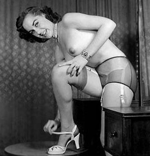 Mara Garter Belts Vintage Porn Nylon Stockings Retro Model