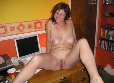 wife posing for boys