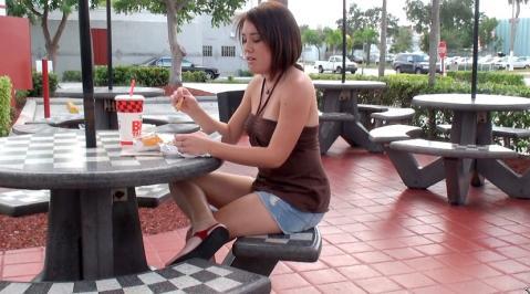 Genevieve Park Street Pickup Movie Reality Pov Skirt Blowjob