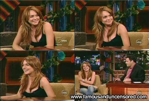 Lindsay Lohan Jimmy Kimmel Live Live Hat Sexy Cute Gorgeous