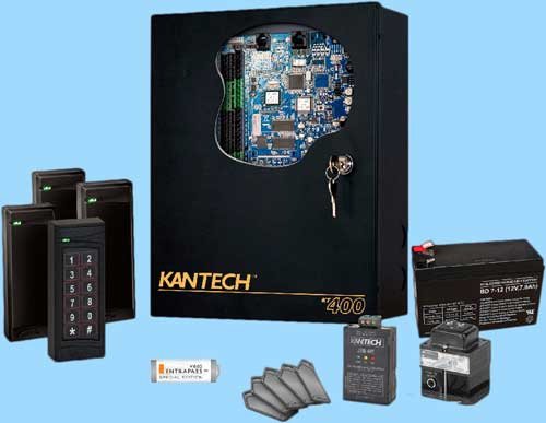 a photo of various access control systems supplied and installed by complete security installs
