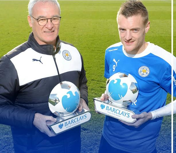 Vardy, Ranieri Win EPL November Player, Manager Of The Month
