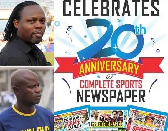Ikpeba, Adepoju Congratulate Complete Sports On 20th Anniversary