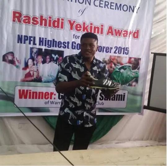 Salami Delighted With Rashidi Yekini Top Scorer Award