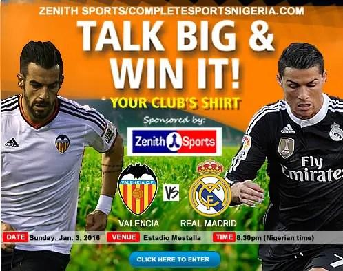 The Winners: Valencia Vs Real Madrid, Talk Big & Win It!