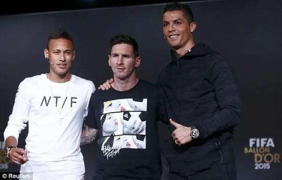Ballon D'Or: Ronaldo Envies Messi's Left Foot, Messi Praises Neymar