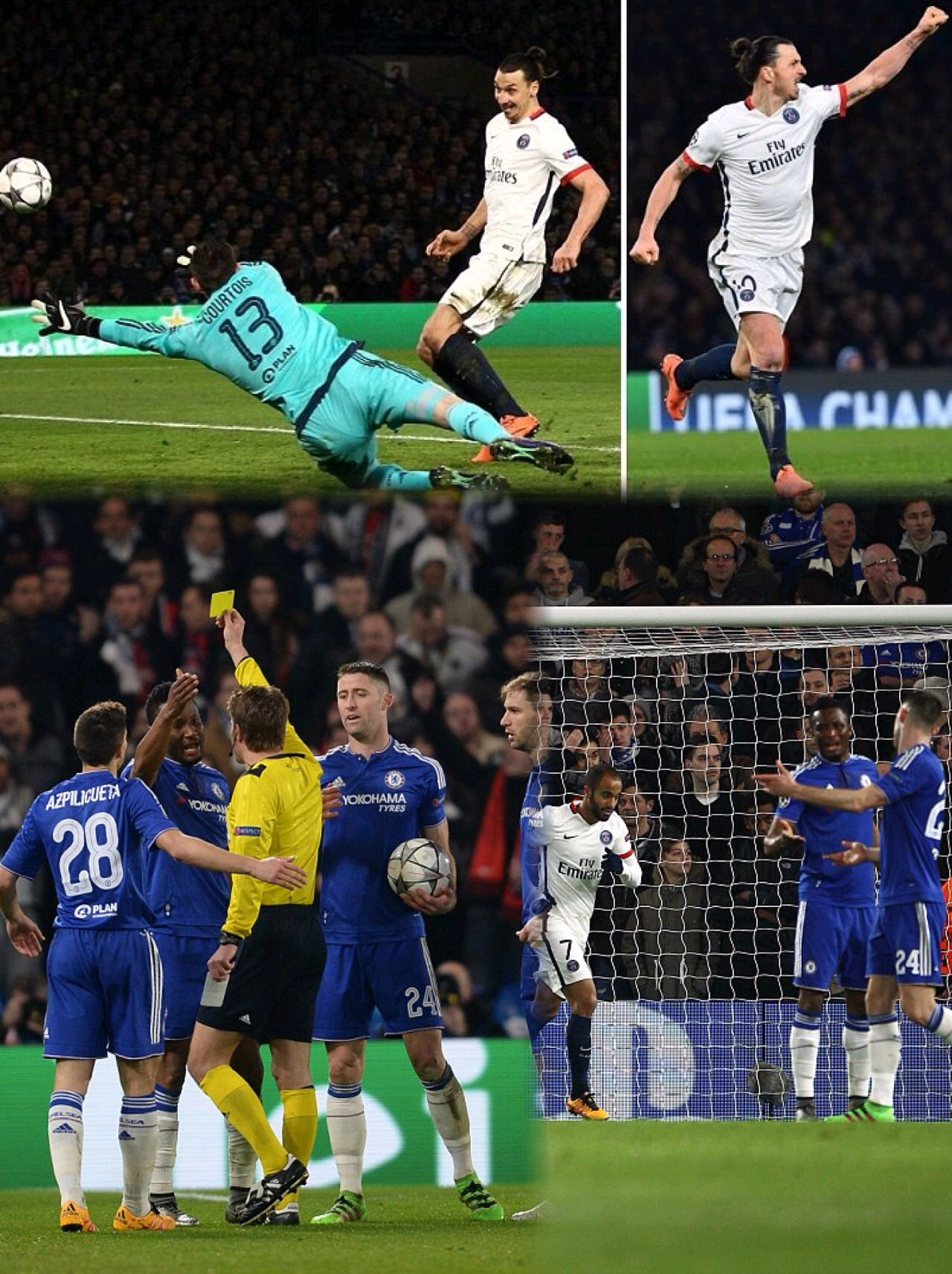 Ibrahimovic Scores, Provides Assist As PSG Dump Mikel And Chelsea Out Of UCL