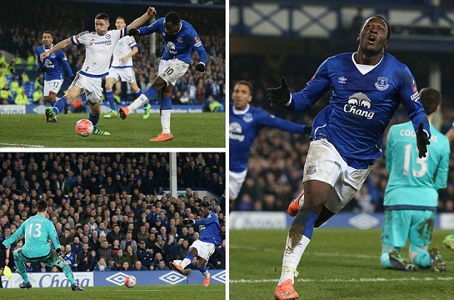 Mikel In Action As Everton Thump Chelsea In Ill-Tempered FA Cup Clash