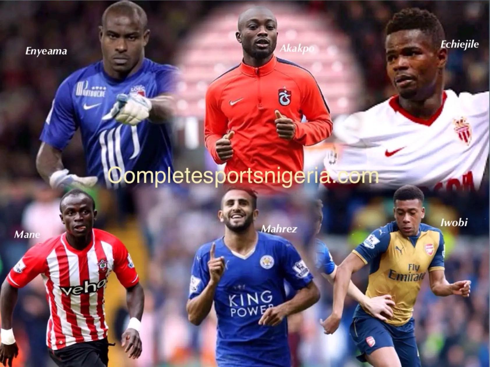 Enyeama, Mane, Echiejile, Mahrez, Iwobi  Make African Team Of The Week