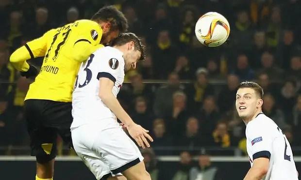 Europa League: Aubemeyang, Reus On Target As Dortmund Trounce Tottenham