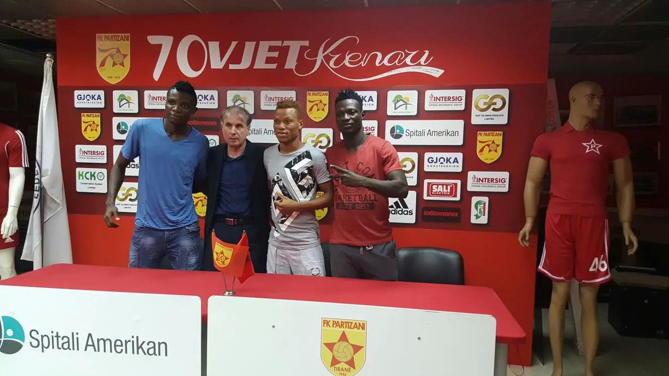 Albanian Club Partizini Sign Three 36 Lions Players