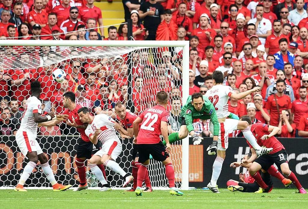 Euro 2016: Xhaka Brothers Clash As Switzerland Edge 10-Man Albania
