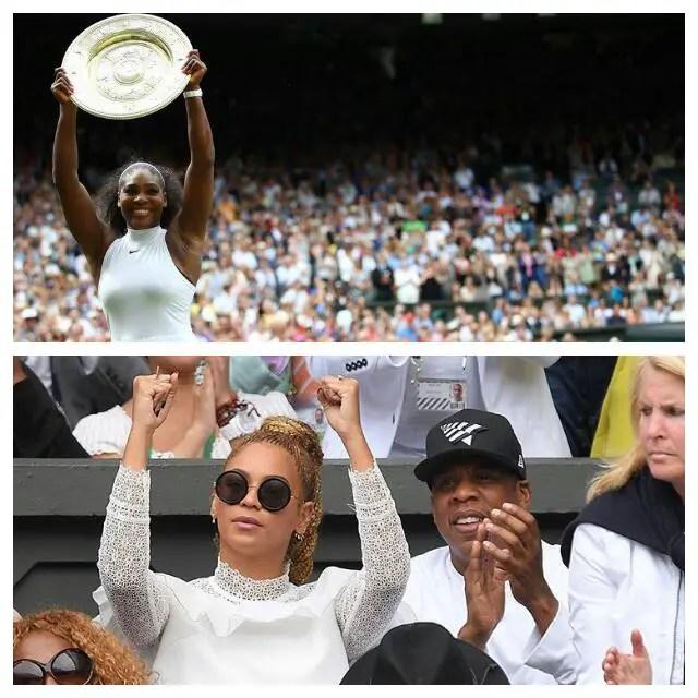 Beyonce Cheers As Serena Wins Wimbledon, Equals Graf Record