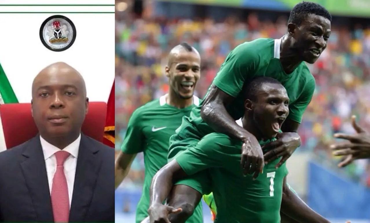 Nigeria Senate President, Saraki Backs Olympic Eagles To win Gold