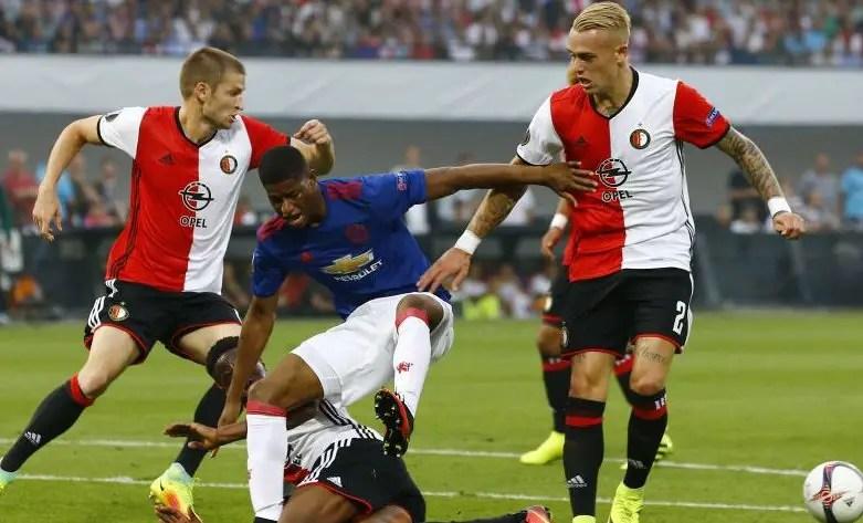 Europa: Feyenoord Stun Poor United; Emenike, Ideye, Kayode, Igiebor In Action