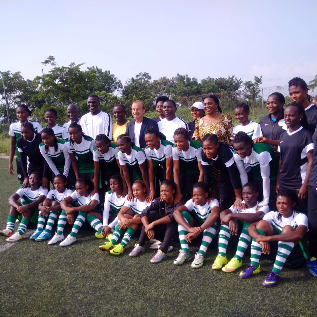 """Rohr Gives """"Strong Contenders"""" Falconets U-20 WWC Tips"""