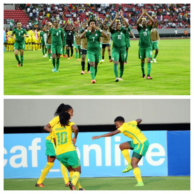 NIGERIA 6-1 SOUTH AFRICA: Falcons Superior To Banyana In AWCON Clashes