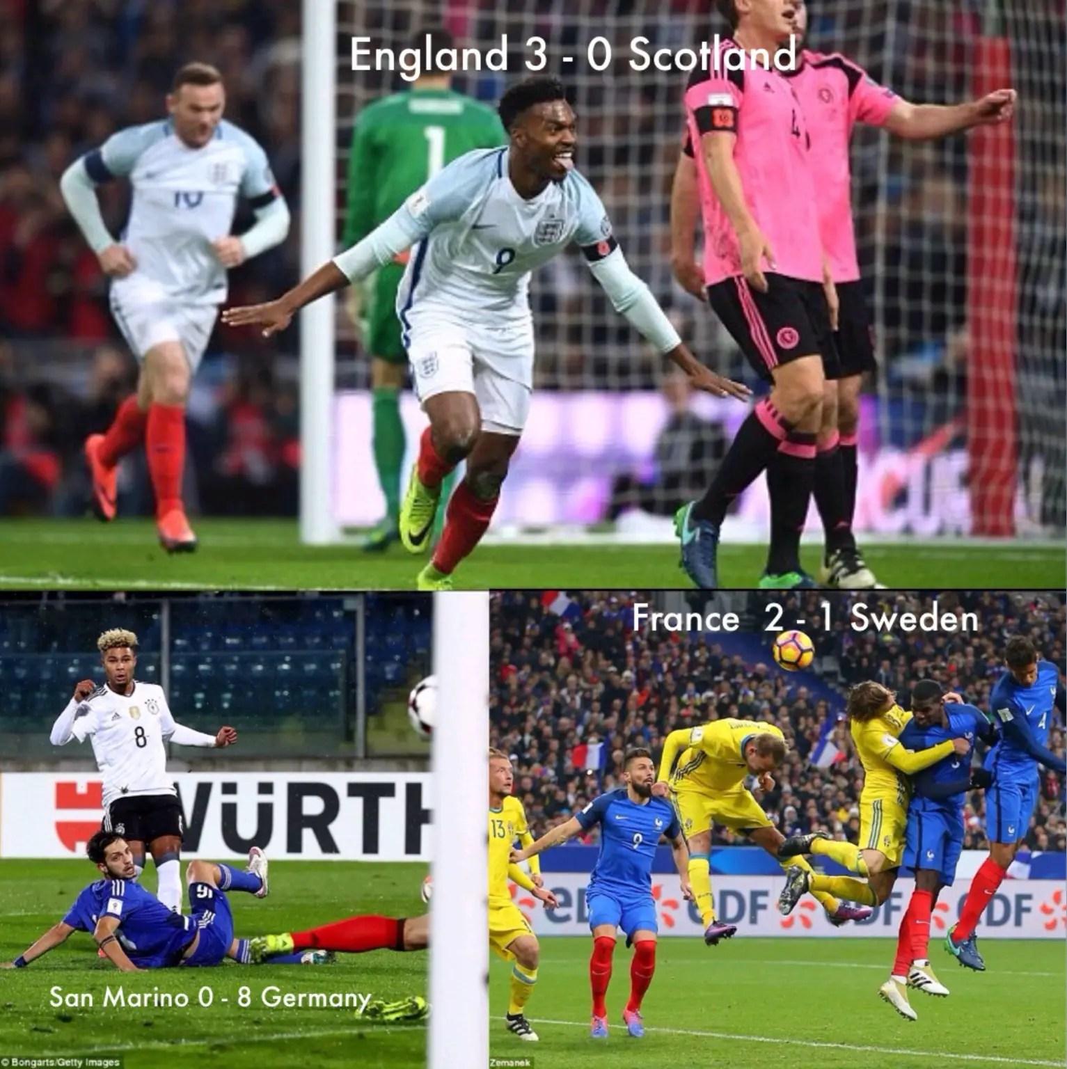 Euro WCQ: England, France Seal Wins; Germany Destroy San Marino