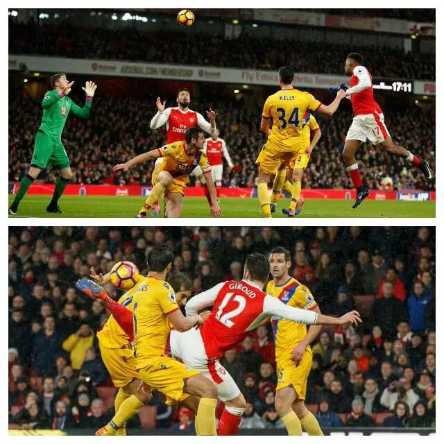Giroud Stunner, Iwobi Goal Fire Arsenal Past Palace