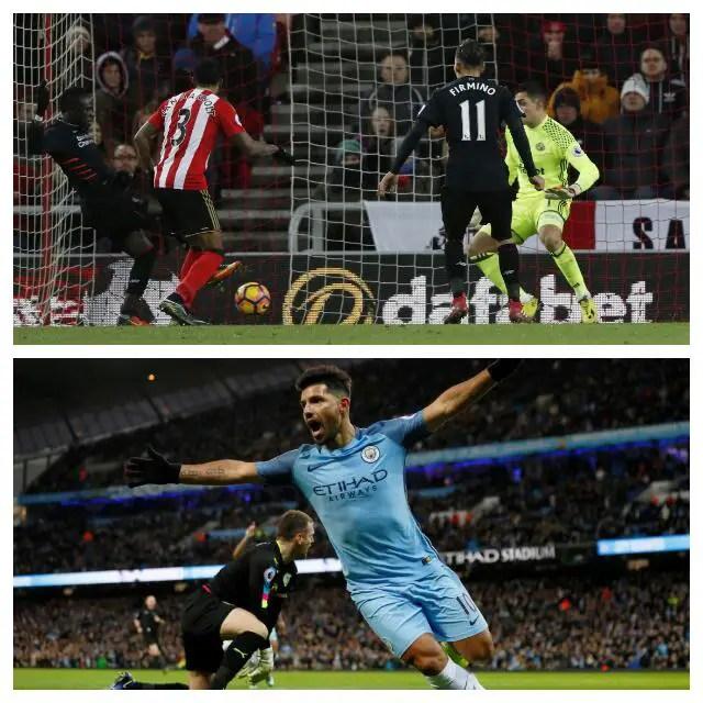Iheanacho Starts As Aguero Rescues Man City, Sunderland Hold Liverpool