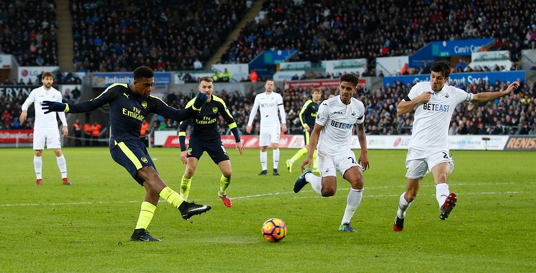 Iwobi Sparkles As Arsenal Thrash Swansea, Ighalo Benched In Watford Draw
