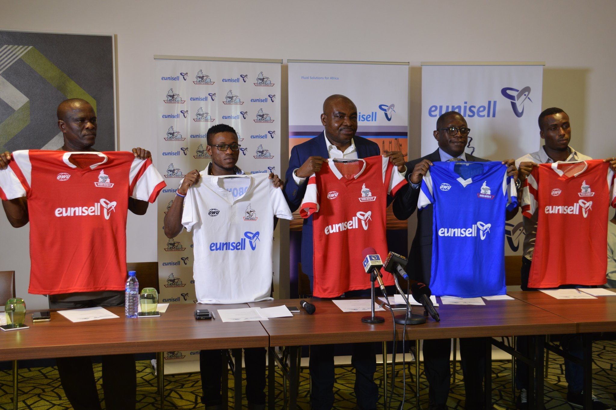 Eunisell, Rivers United Happy With Shirt Sponsorship Deal Renewal; Sponsor Donates N10m