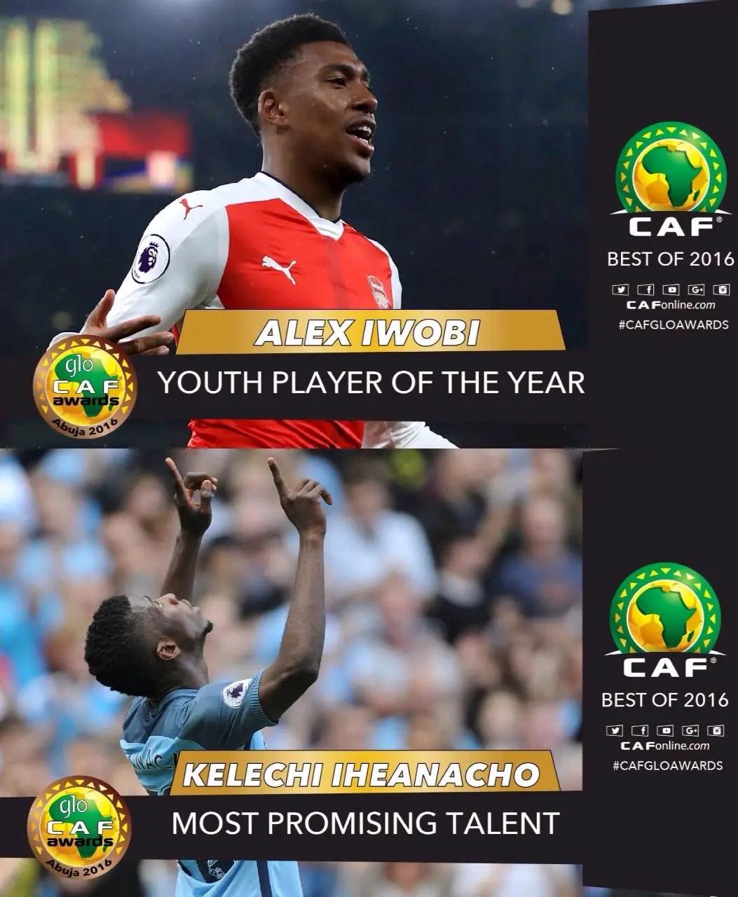 Iwobi, Iheanacho Thrilled Winning Glo/CAF Awards