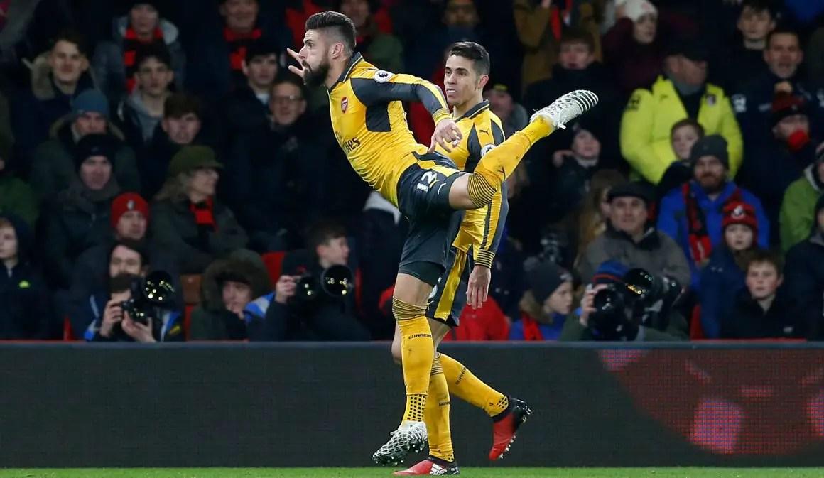 Giroud Beats Sanchez, Iwobi To Arsenal January Best Player Award