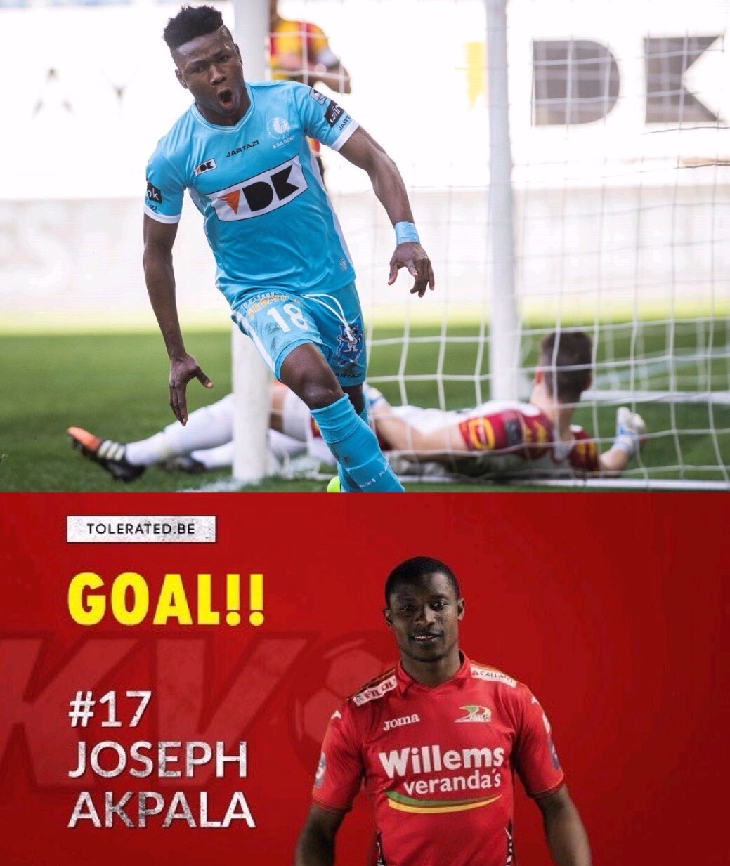 Kalu, Akpala Score As Gent, Oostende Qualify For Title Play-offs; Ajagun, Salami Also on Target