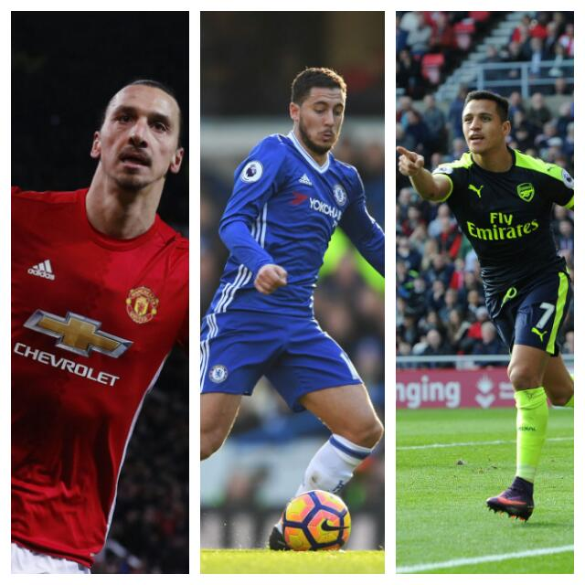 Sanchez, Kante, Hazard, Zlatan Up For Player Of The Year Award