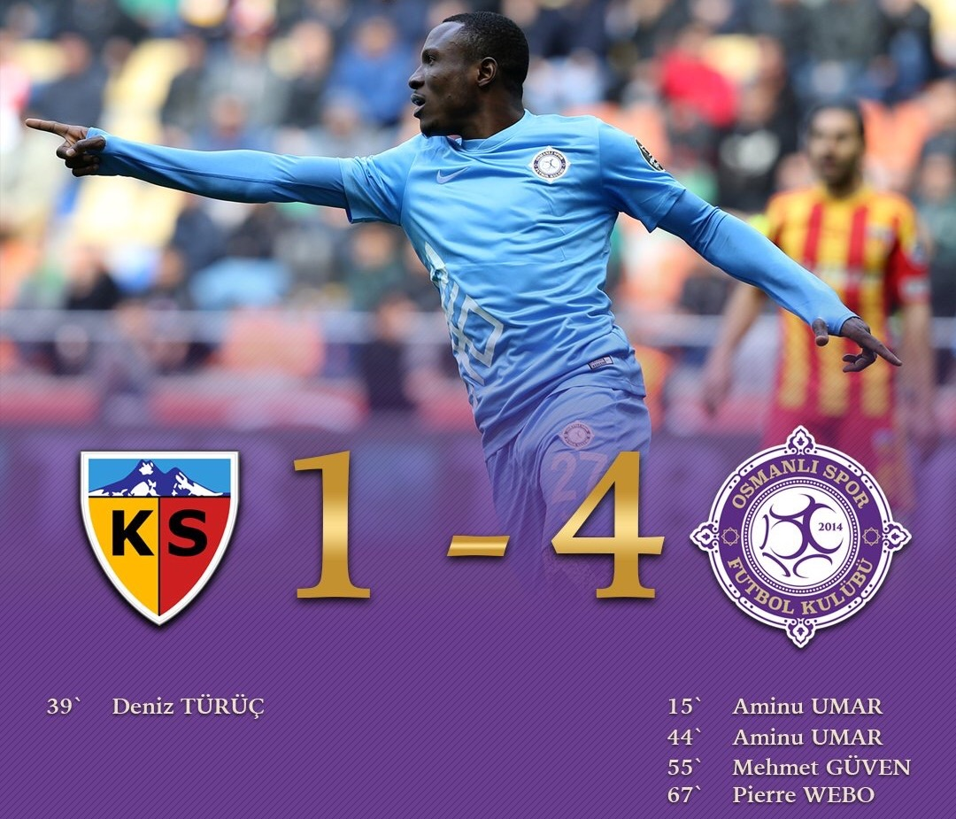 Umar Bags Brace In Osmanlispor Win; Onuachu, Hassan Also On Target
