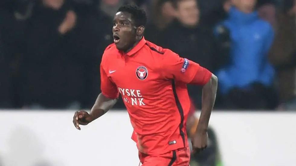 Onuachu Nets Brace As Midtjylland Edge AaB, Reach Danish Cup Semis