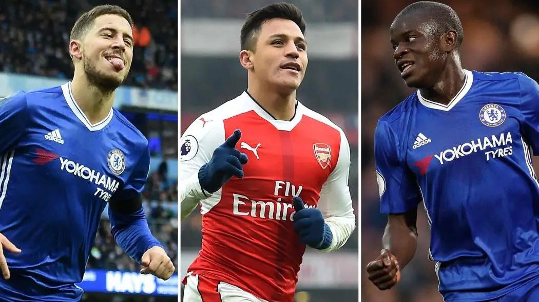 Hazard, Kante, Kane, Sanchez, Lukaku Up For EPL Best Player Award