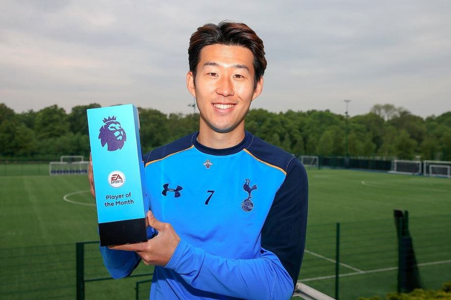 Son Beats Hazard, Bailly To EPL April Player Of The Month Award