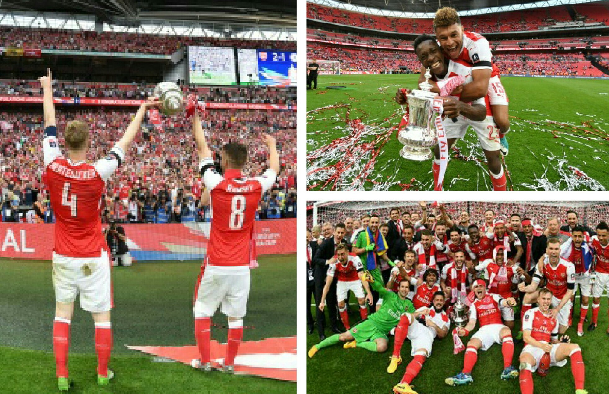 Banky W,Dakolo, Iwobi's Father Celebrate Arsenal's FA Cup Triumph; P-Square Congratulates Gunners' Fans