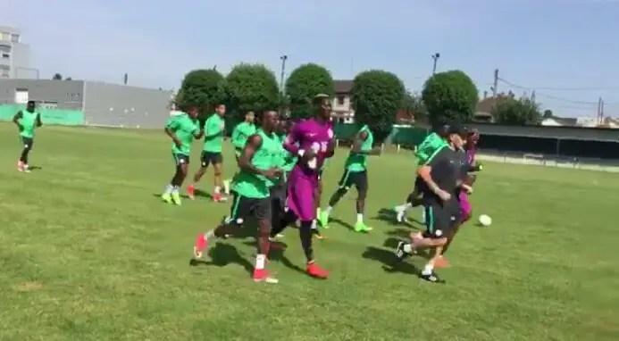 Super Eagles Resume Training In ParisAhead Togo Friendly