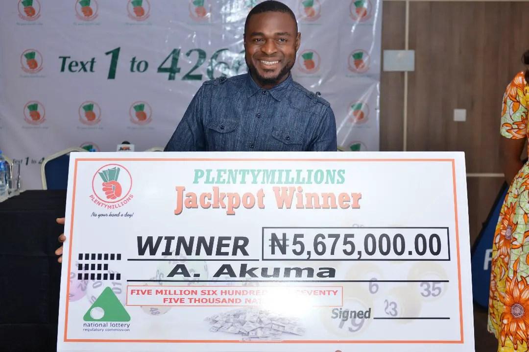 Petty Businessman Mr. Anthony Akuma Wins PlentyMillions Lottery